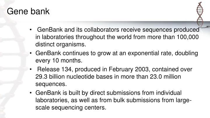 Gene bank