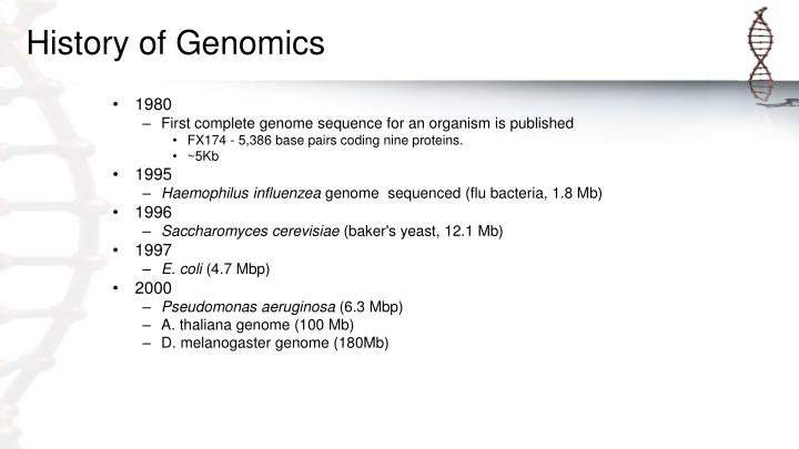 History of Genomics