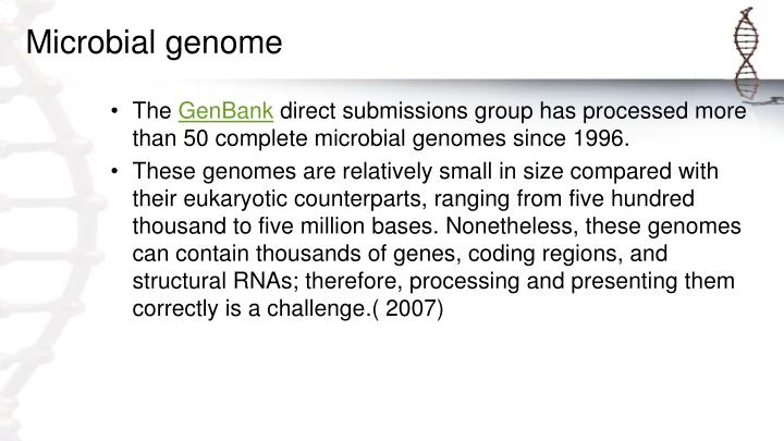 Microbial genome