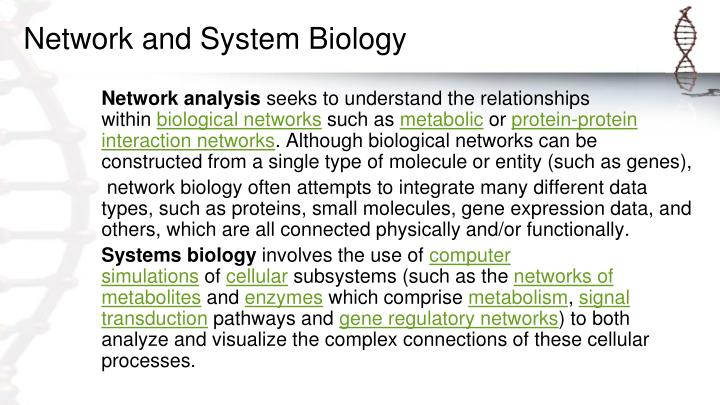 Network and System Biology