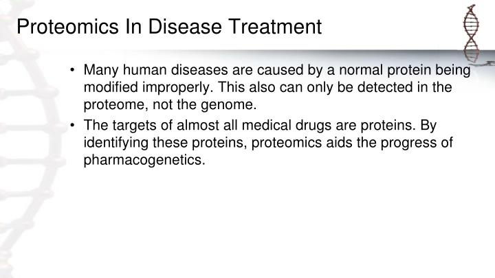 Proteomics In Disease Treatment