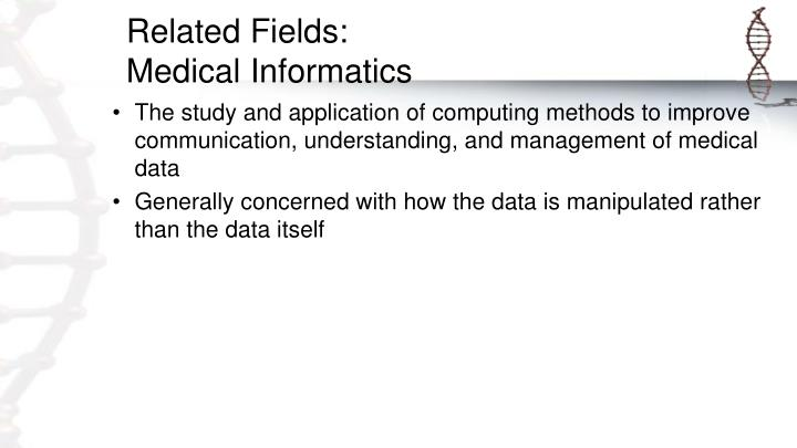 Related Fields: