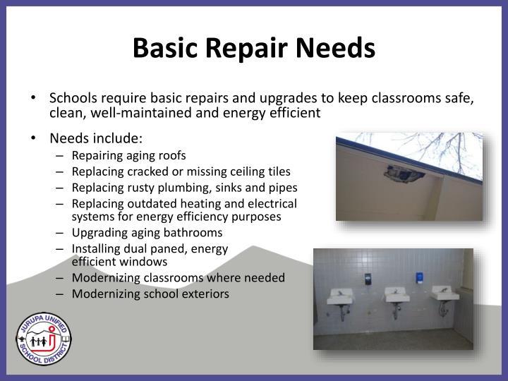 Basic Repair Needs