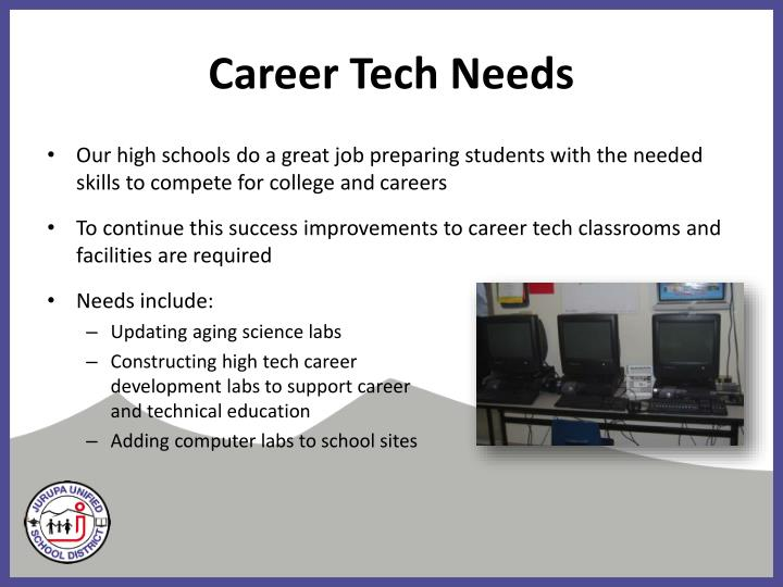 Career Tech Needs