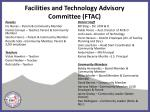 facilities and technology advisory committee ftac1