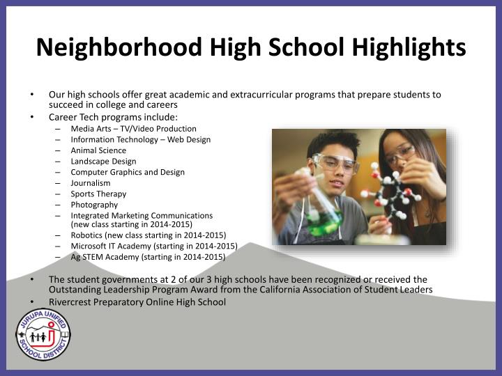 Neighborhood High School Highlights