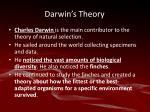 darwin s theory