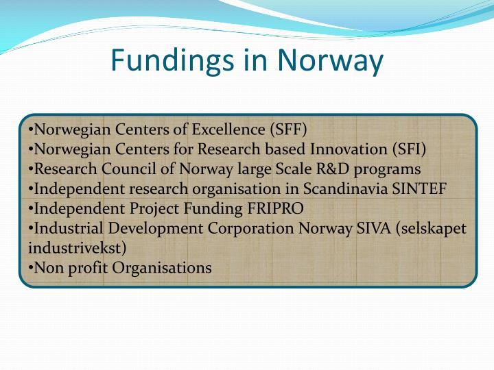 Fundings in Norway