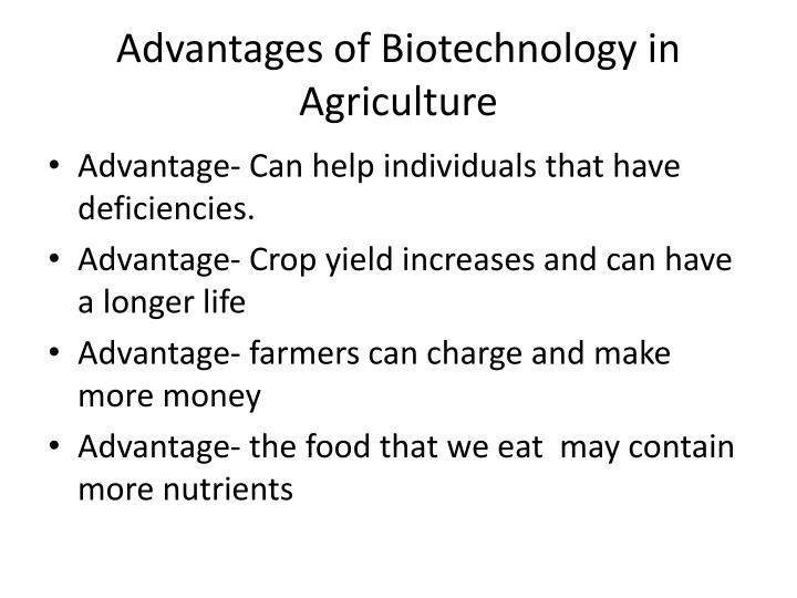 Advantages of Biotechnology in Agriculture