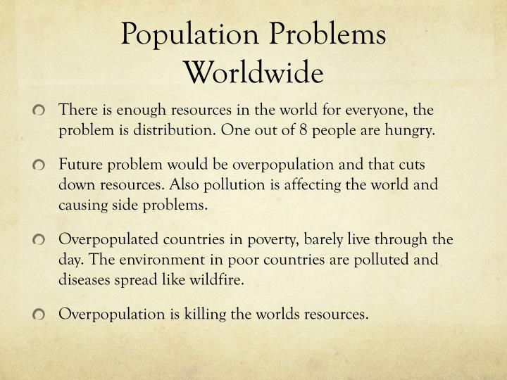 how to solve world population problem