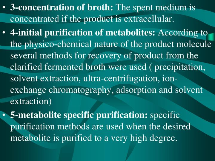3-concentration of broth: