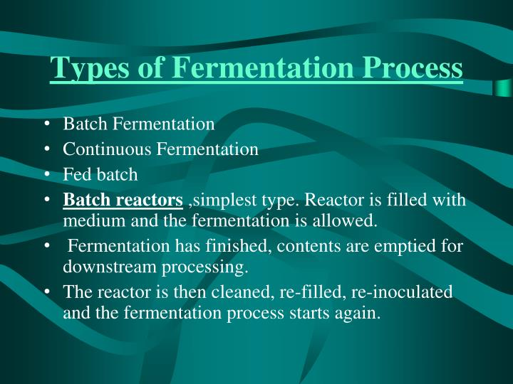 Types of Fermentation Process