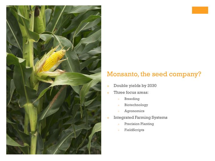 Monsanto the seed company