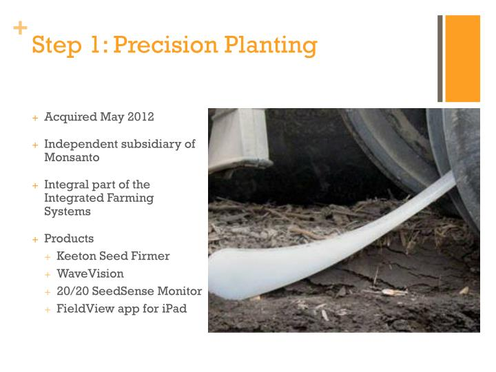 Step 1: Precision Planting