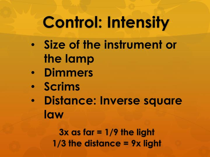 Size of the instrument or the lamp