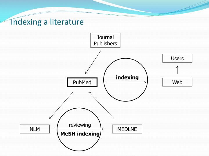Indexing a literature