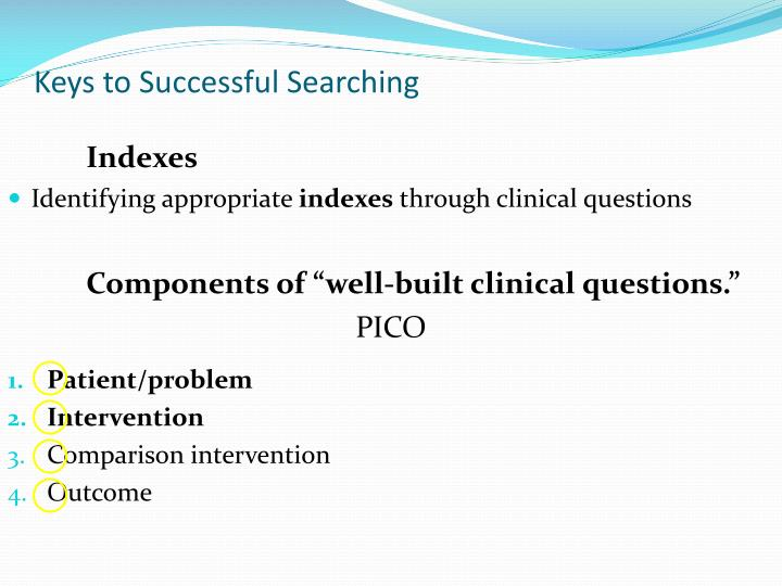 Keys to Successful Searching