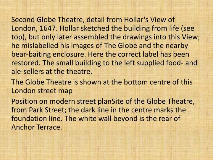 Second Globe Theatre, detail from