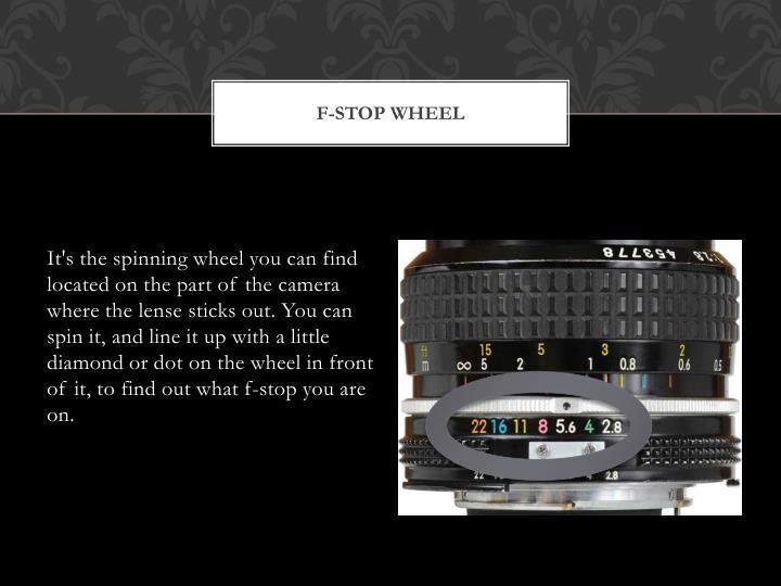 F-stop Wheel