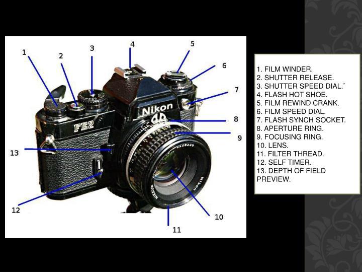 1. Film winder.