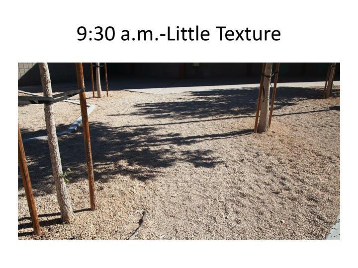 9:30 a.m.-Little Texture