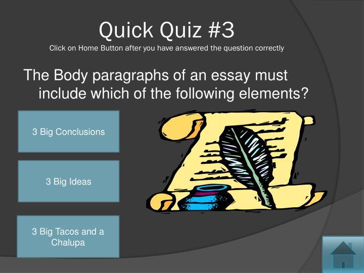 Quick Quiz #3