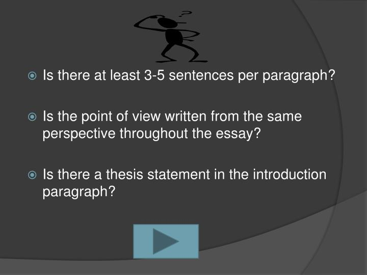 Is there at least 3-5 sentences per paragraph?