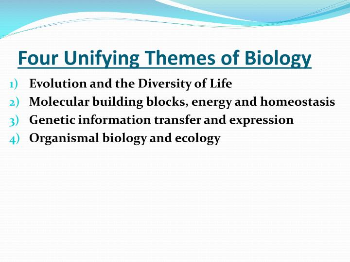 Four Unifying Themes of Biology