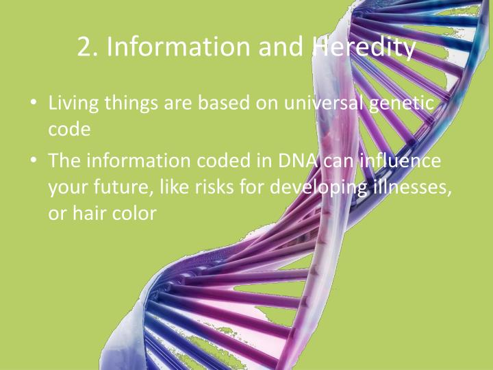 2. Information and Heredity