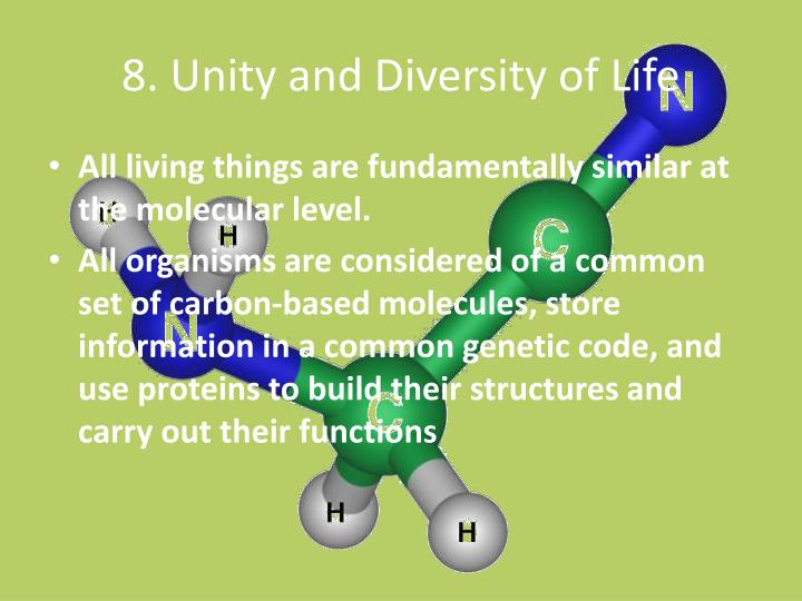 8. Unity and Diversity of Life