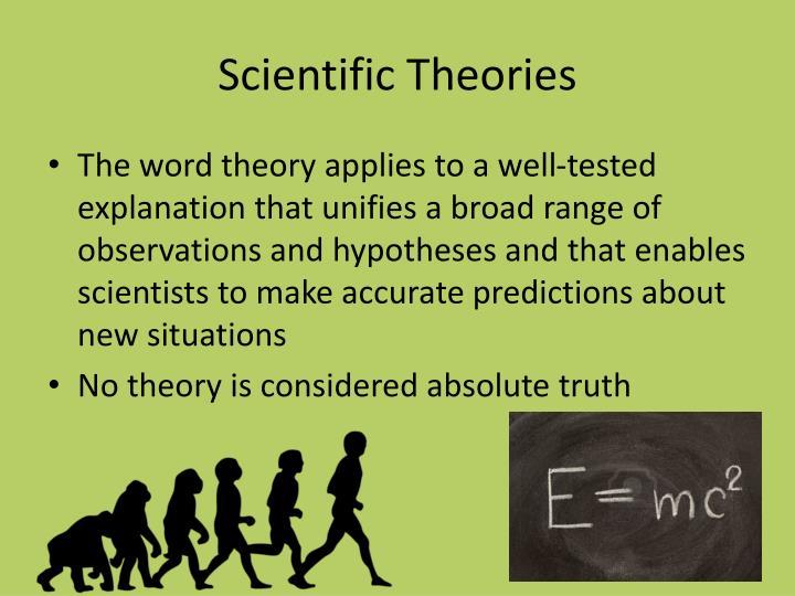Scientific Theories