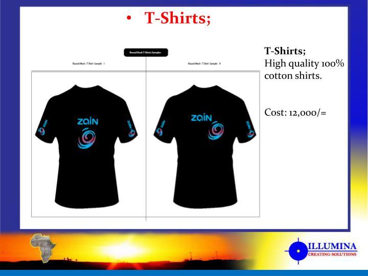T-Shirts;