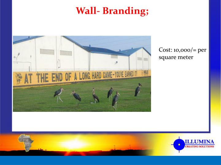 Wall- Branding;