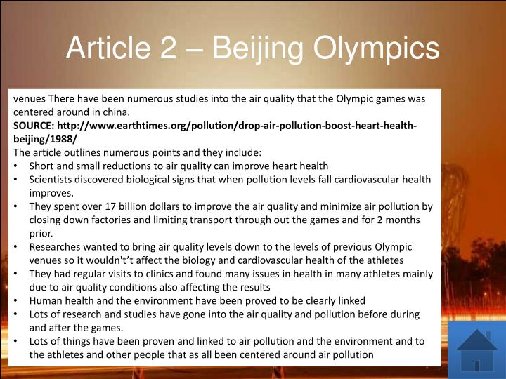 Article 2 – Beijing Olympics