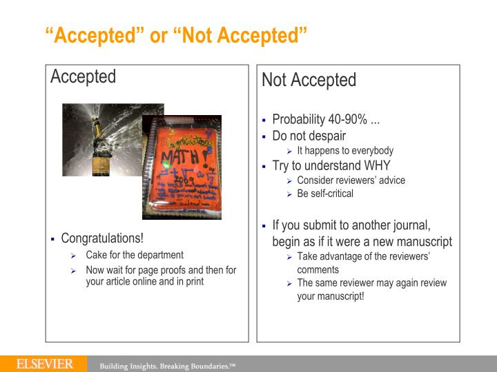 """Accepted"" or ""Not Accepted"""