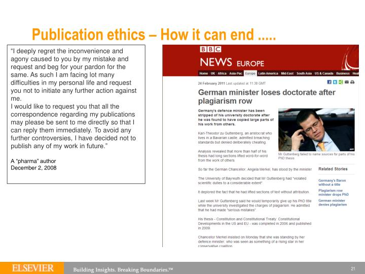 Publication ethics – How it can end .....