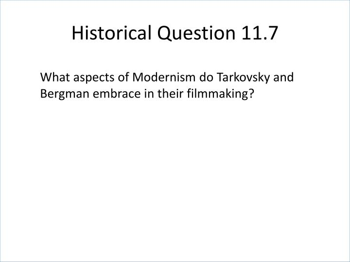 Historical Question