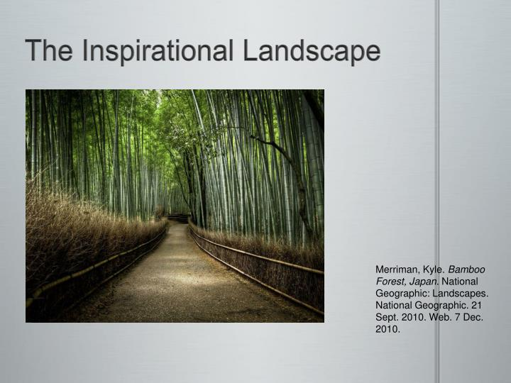 The Inspirational Landscape