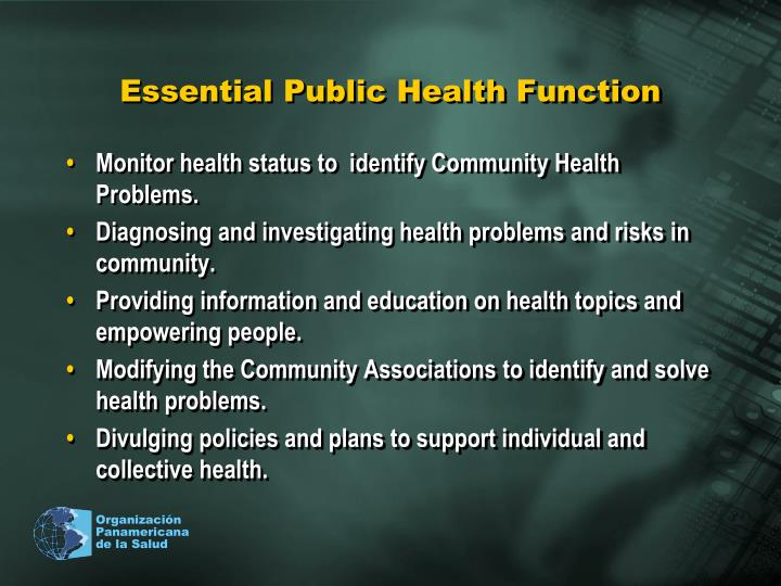 Essential Public Health Function