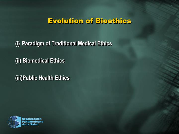 Evolution of bioethics