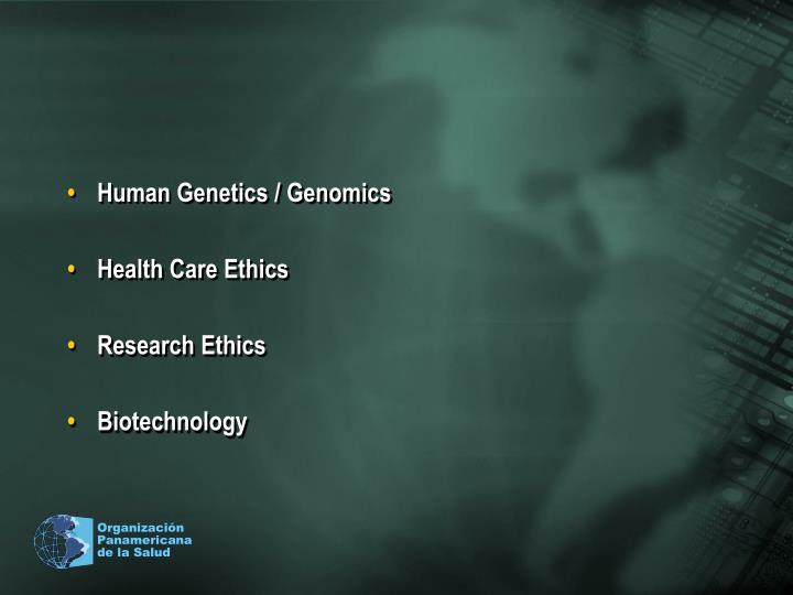 Human Genetics / Genomics