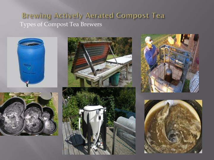 Brewing Actively Aerated Compost Tea