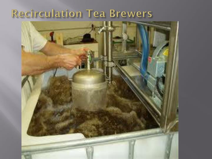 Recirculation Tea Brewers