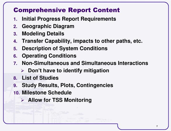 Comprehensive Report Content