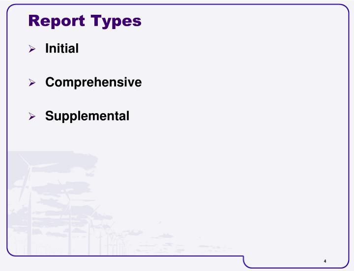 Report Types
