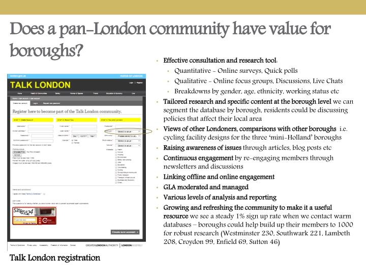 Does a pan-London community have value for boroughs?