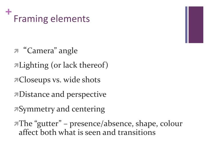 Framing elements