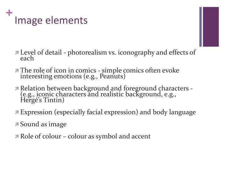 Image elements