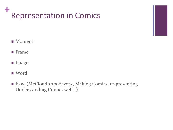 Representation in Comics