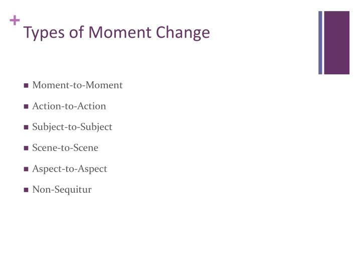 Types of Moment Change